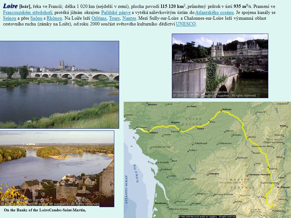 Loire [loár], řeka ve Francii; délka 1 020 km (nejdelší v zemi), plocha povodí 115 120 km2, průměrný průtok v ústí 935 m3/s. Pramení ve Francouzském středohoří, protéká jižním okrajem Pařížské pánve a vytéká nálevkovitým ústím do Atlantského oceánu. Je spojena kanály se Seinou a přes Saônu s Rhônou. Na Loiře leží Orléans, Tours, Nantes. Mezi Sully-sur-Loire a Chalonnes-sur-Loire leží významná oblast cestovního ruchu (zámky na Loiře), od roku 2000 součást světového kulturního dědictví UNESCO.